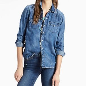 Lucky Brand Classic Denim Western Shirt Women's